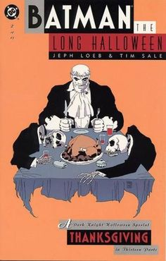 """Batman the Long Halloween: Thanksgiving - part 2 of Tim Sale (disegni), Jeph Loeb (storia), - DC 1997 Batman The Long Halloween, Halloween Night, Spirit Halloween, Halloween Masks, Baby Halloween, Halloween Themes, Dc Comic Books, Comic Book Covers, Comic Art"
