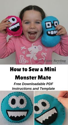 Mini Monster Mate Video Tutorial with Free Downloadable PDF | Sew A Softie Day