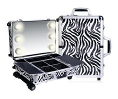 cool SHANY Cosmetics Mini Studio Togo Makeup Case, Zebra - For Sale