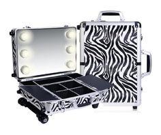 cool SHANY Cosmetics Mini Studio Togo Makeup Case, Zebra - For Sale