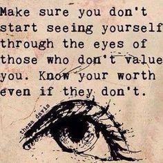 Self esteem quote.. Very good