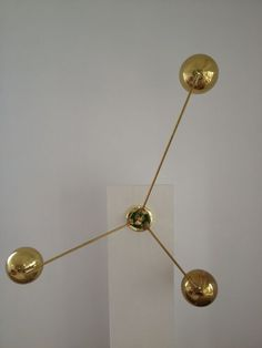 Large Arteluce Brass Ball 3 Arm Adjustable Wall Sconce Lamp | Stilnovo Mid Century | eBay