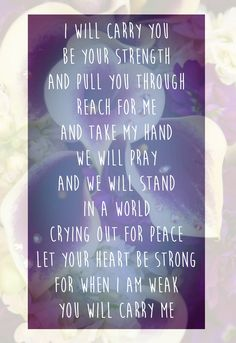 Love prayer Michael W. Smith - I will carry you #love #pray #carry