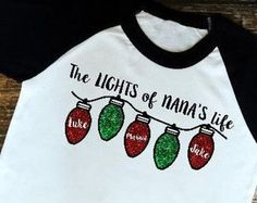Christmas Shirt for Women Women's Christmas Shirt Grandma Shirt Nana Shirt Grammy Shirt Gift for Grandma Grandkids Names Shirt Monogram Shirts, Vinyl Shirts, Personalized T Shirts, Vinyl Monogram, Vinyl Designs, Shirt Designs, Christmas Vinyl, Womens Christmas, Christmas Monogram Shirt