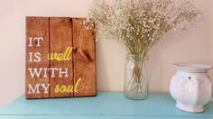 It is well with my soul rustic wooden sign hymn by RustiqCharm