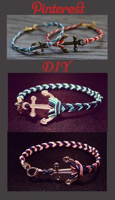 DIY.. braided anchor bracelets This craft was easy and fun! Used a thread with wire inside instead so the braid stayed together better and maintained its form. The braid itself was pretty easy too!