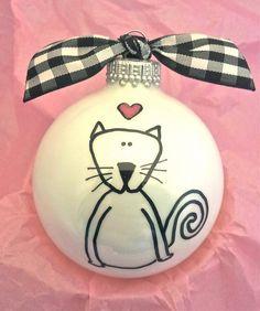 Cat Ornament Kitten Ornament Personalize Pet by HappyYouHappyMe