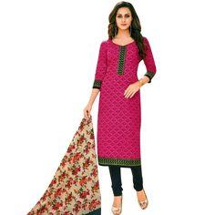 Readymade Designer Ethnic Printed Cotton Salwar Kameez Suit Indian  #Designer #NewStuff #LowestPrice #ShopNow #SalwarSuit #SalwarKameez #DressMaterial #FreeShipping