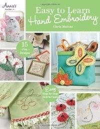 Easy To Learn Hand Embroidery - Follow designer and teacher Chris Malone as she teaches you just how easy it is to learn the art of hand embroidery. Each project will teach you a new stitch to build on the previously learned stitches. Put your new-found skills to the test with one of the 15 fun and unique designs that are also included. 48 all-color pgs