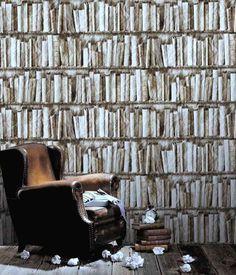 Grey crumbled retro-style bookcase 8888-73 - Seinäruusu - Verkkokauppa