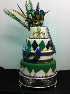 New Orleans Themed Custom Cake From The Fort Worth Club Surprise Birthday