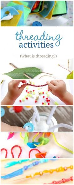 What is threading? Plus lots of threading activities to do with the kids (great fine motor activities!)