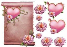 Scroll Topper on Craftsuprint designed by Carol Brown - lovely sheet to decoupage,take a moment to look at all my new designs - Now available for download!