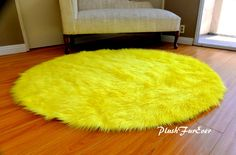 Round Area Rug Faux Fur Throw Baby Decors Boy Girl by PlushFurever Oval Rugs, Round Area Rugs, Nursery Rugs, Faux Fur Throw, Baby Decor, Shag Rug, Modern Contemporary, Baby Shower Gifts, House Design