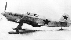 """Yak-1 on skis from """"Soviet Combat Aircraft of the Second World War"""" by Yefim Gordon and Dmitri Khazanov, Vol.1 Courtesy of Thomas Heinz."""
