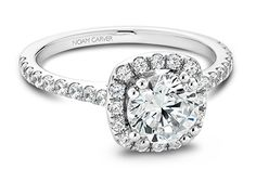 Noam Carver designs beautiful classic engagement rings with a modern twist, perfect for the traditional bride-to-be in search of a timeless yet