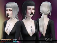 The Sims Resource: LeahLillith Horus Hairstyle • Sims 4 Downloads
