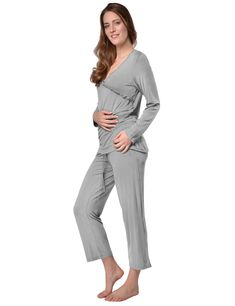 RAIKOU Damen Jersey Fitness Yoga Badeanzug Hausanzug mit Rüschen Raffungen Elegant, Yoga Fitness, Pajama Pants, Pajamas, Dresses For Work, Fashion, Dress Work, Tops, Bathing