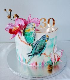 Sunday Sweets Is For The Birds This Audubon Day — Cake Wrecks Pretty Cakes, Cute Cakes, Beautiful Cakes, Amazing Cakes, Cake Wrecks, Crazy Cakes, Bird Cakes, Cupcake Cakes, Bolo Floral