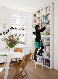Small Space Storage Ideas: 7 Simple Solutions | most important: think vertically for storage.