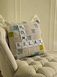 Scrable pillow