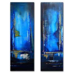 malerei bilder gemälde acrylbilder blau zweiteilig twins acrylbilder ...