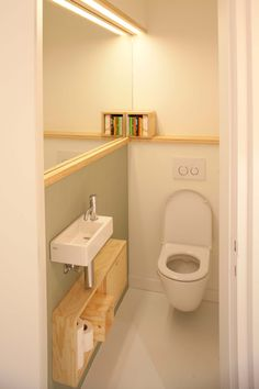Tiny Bathrooms, Tiny House Bathroom, Laundry In Bathroom, Small Downstairs Toilet, Small Toilet Room, Small Toilet Design, Bathroom Design Small, Washroom Design, Bathroom Interior Design