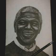"""Nelson Mandela"" Pencil on paper"