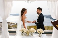 Laura and Sam's Sunset View Terrace Wedding in Santorini 21st August 2017