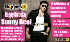 Wishing the #Bollywood Punjabi Puttar #SunnyDeol, a very Happy Birthday! #HappyBirthdaySunnyDeol