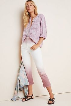 Pilcro Ultra High-Rise Dip-Dyed Slim Jeans  #Anthropologie #fashion #fashionista #fashionoutfits #fashiontrends #fashionwomen #fallfashion #fallstyle #Sponsored, #Promotion, #PaidAd, #ad, #affiliatelink Dress Outfits, Fashion Outfits, Womens Fashion, Fashion Trends, Clothes For Sale, Clothes For Women, Evening Attire, Summer Outfits, Summer Dresses