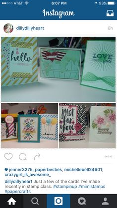 Cards Christy has made