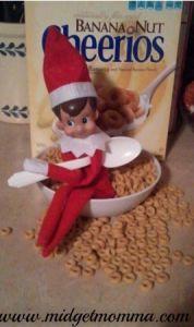 Elf on the Shelf makes breakfast