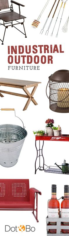 Industrial Outdoor Furniture & Décor | Up to 60% Off at dotandbo.com