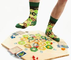 Settlers of Catan Socks. Get off the board! You'll mess up the game!