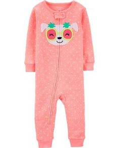Crafted in soft cotton, these dog PJs get her ready for bed in one easy zip! Carter's cotton PJs are not flame resistant. They're designed with a snug and stretchy fit for safety and comfort. Baby Girl Pajamas, Carters Baby Girl, Toddler Girl, Baby Girls, Toddler Pajamas, Baby Outfits, Toddler Outfits, Kids Outfits, Toddler Fashion
