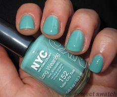 NYC Tudor City Teal & Rock The Party Nail Polish Swatches - love this color!