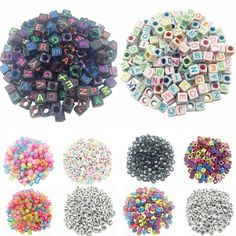 6 mm ~ 16 mm 32 facettes Random Mixed Round Acrylic Spacer Loose Beads À faire soi-même Findings