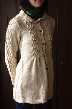 Ravelry: unagineko's smocked cable coat