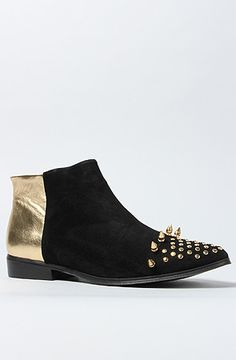 Messeca The Titan Boot in Gold With Gold Spikes : Karmaloop.com - Global Concrete Culture