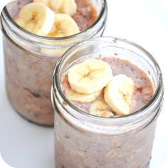 No-Cook Nutella Banana Refrigerator Oatmeal in a Jar