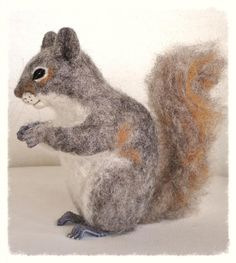 Ooak Needle Felted Squirrel by FireflyFelts on Etsy