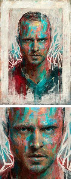 """Portrait of Jesse Pinkman"" by Sam Spratt"
