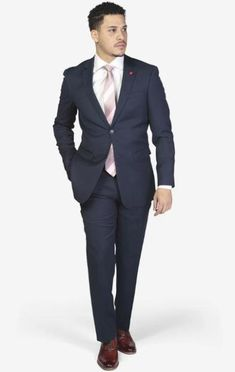 Suit includes jacket & trousers 2-button single breast jacket Notch lapels Flap pockets Side vents Suit includes jacket & trousers Fit: Slim Fit Comfort: Stretch Armhole for comfort Material: 98% Wool 2% Spandex Color: Royal Blue