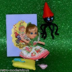 Liddle Kiddle Little Miss Middle Muffet Spider Storybook Pillow Vintage doll SET