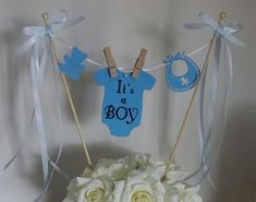 Baby Shower Cake Topper/Its a Boy Cake Topper/Cake Bunting/Cake Topper/Cake Banner/Gender Reveal Topper Baby Shower Cakes For Boys, Baby Shower Party Favors, Baby Shower Parties, Baby Boy Shower, Baby Shower Decorations, Baby Cake Topper, Cake Toppers, Cute Baby Names, Cake Banner