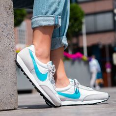 Nike Daybreak Grey / Blue Fury Credit : 43einhalb — #nike #daybreak #sneakerhead #sneakersaddict #sneakers #kicks #footwear #shoes #fashion #style Latest Sneakers, Women's Sneakers, Sneaker Trend, Silhouette, Trends, Nike Cortez, Blue Grey, Kicks, Shoes