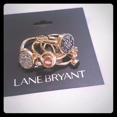 Stackable Rings (size 9) Gold and stone stackable rings Lane Bryant Jewelry Rings