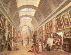 Hubert Robert, Design for the Grande Galerie in the Louvre, Oil on canvas (1796)