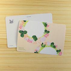 シロツメクサのポストカード